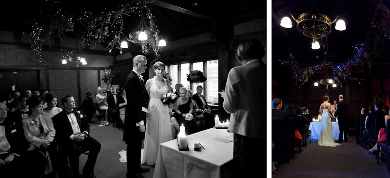 Bride and Groom make their wedding vows