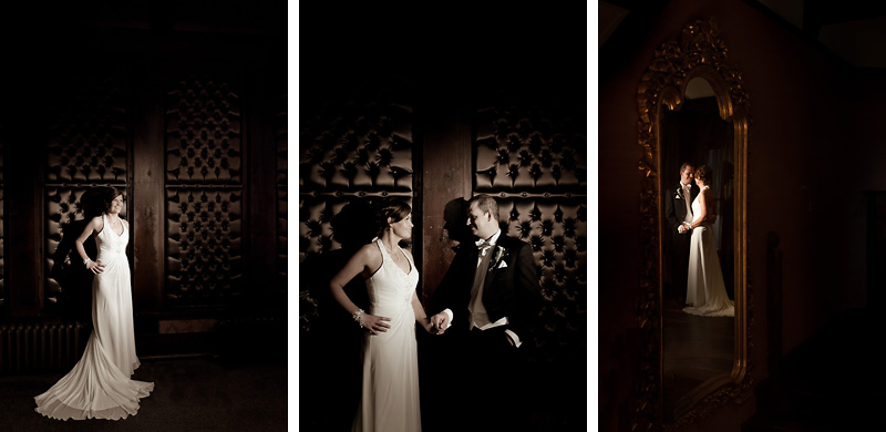 Bride and Groom mirror reflection