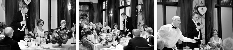 Groom has guests laughing with his speech