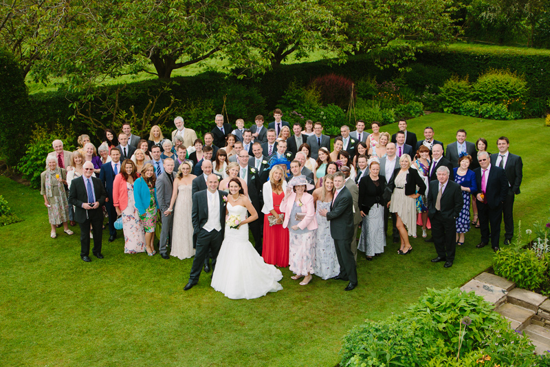 Wedding party fun photograph