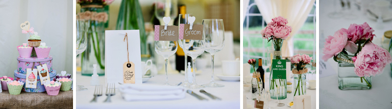 Wedding table favours
