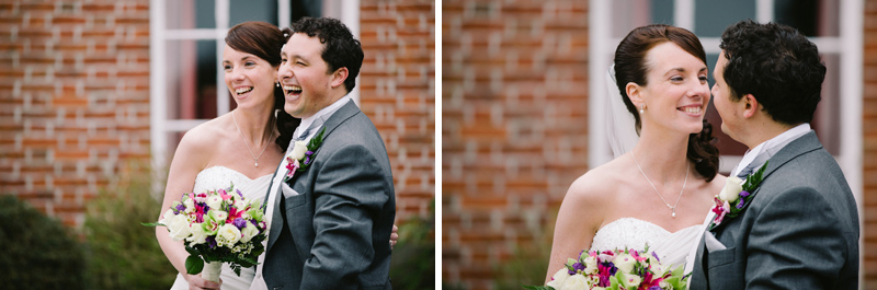 Bride and Groom laughing and having fun