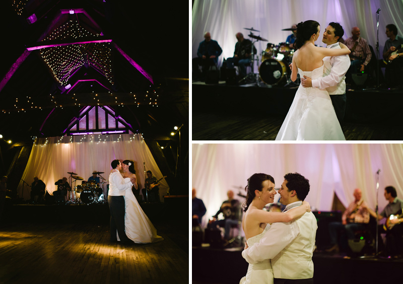 Bride and Groom sway to the music of their first dance