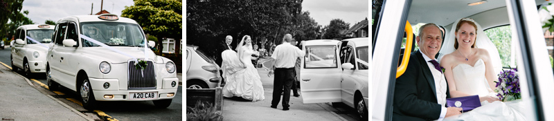 White cab wedding cars