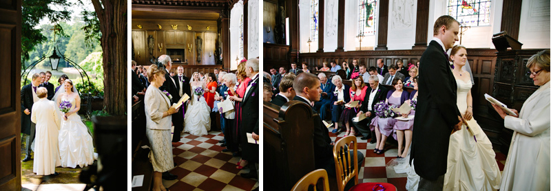 Wedding Blessing in the Chapel at Capesthorne Hall