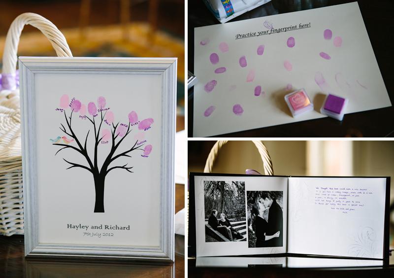 Guests make a fingerprint tree