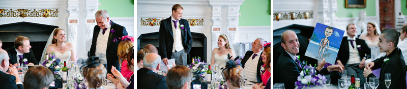 Grooms gives his wedding speech