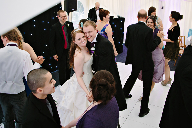 Guests dancing during the party
