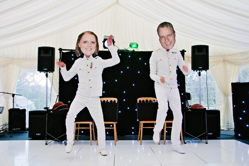 Fun dancing with the Bride and Groom