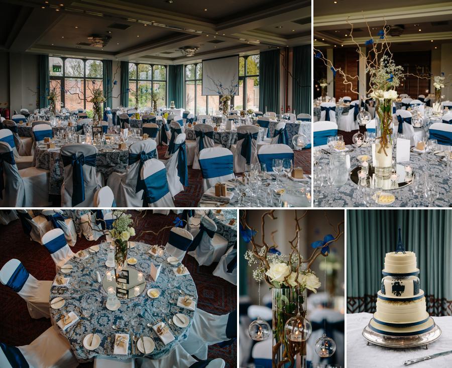 Wedding breakfast at Rookery Hall