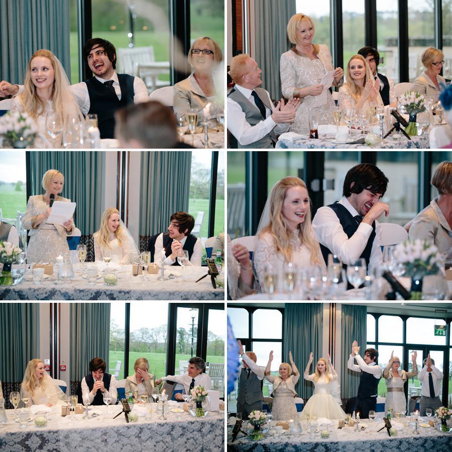 Brides mother giving speech