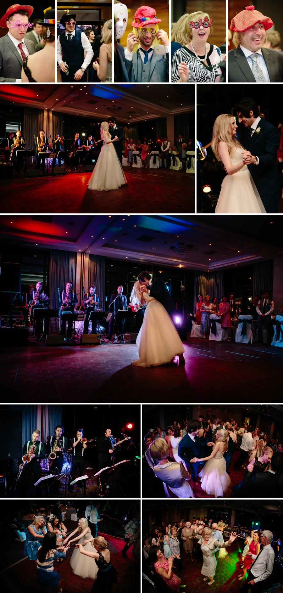 First dance for the bride and groom at Rookery Hall