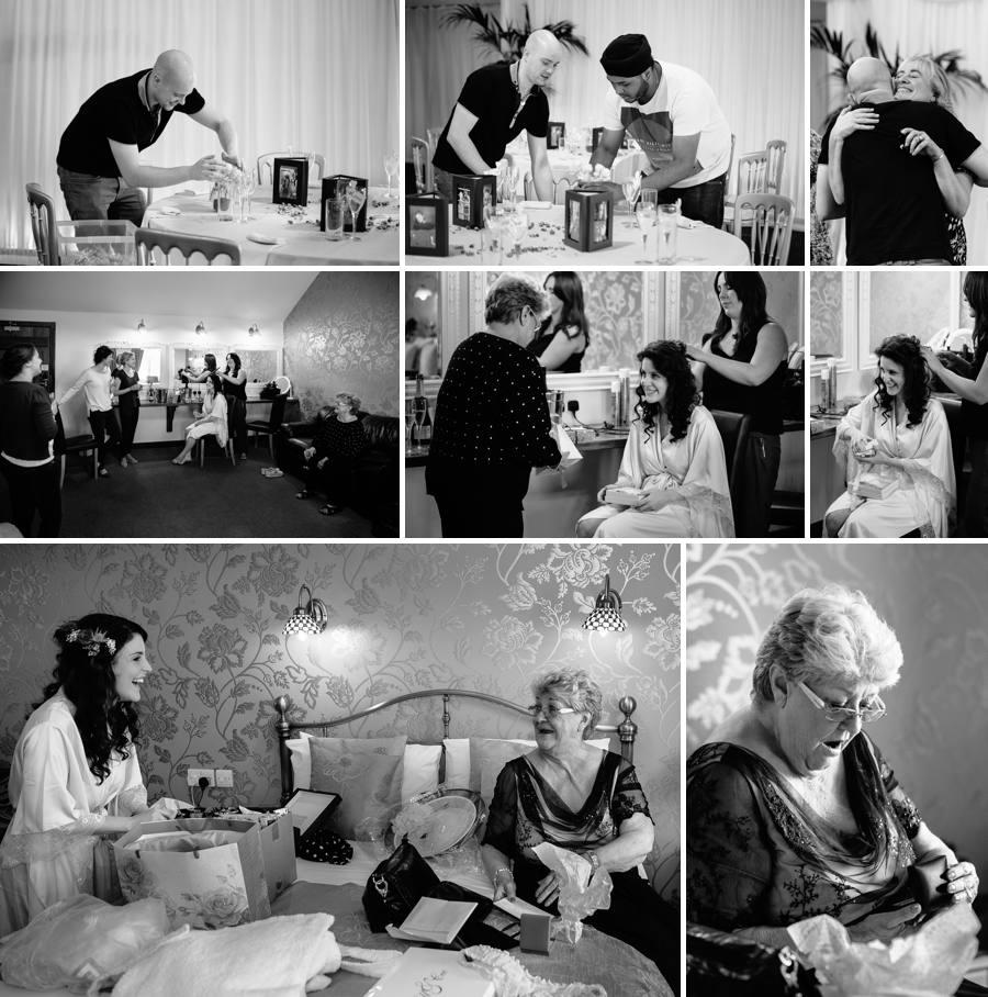 Bride & Groom preparations