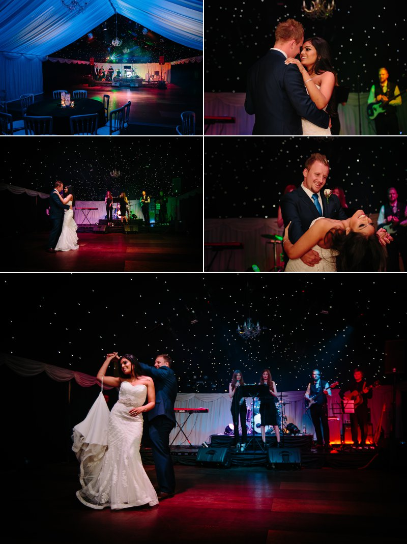 First Dance under the stars at Heaton House Farm
