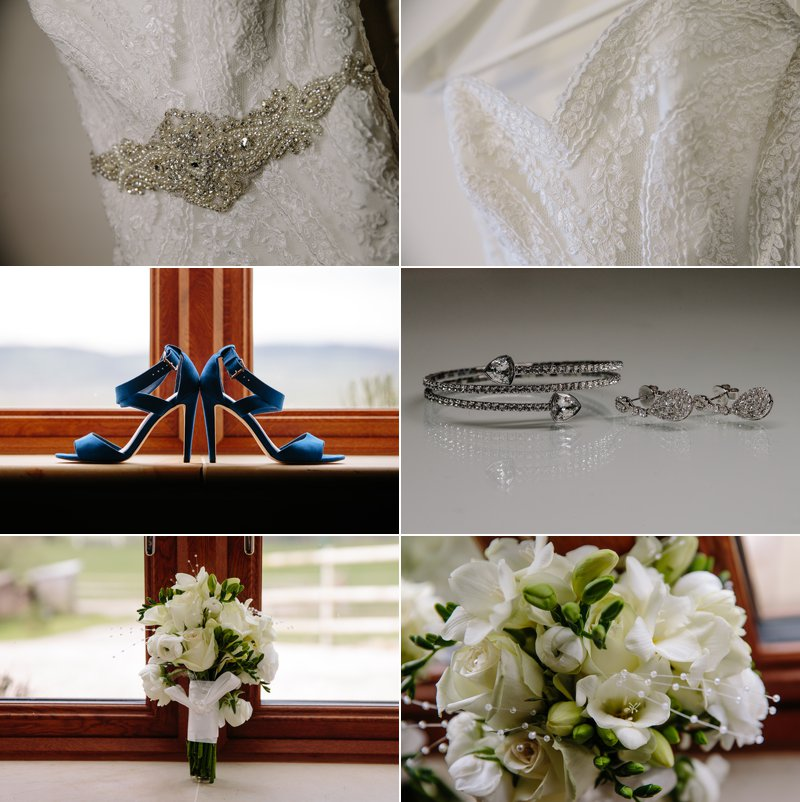Bridal jewellery and wedding flowers