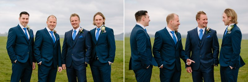 Groom & Groomsmen at Heaton House Farm