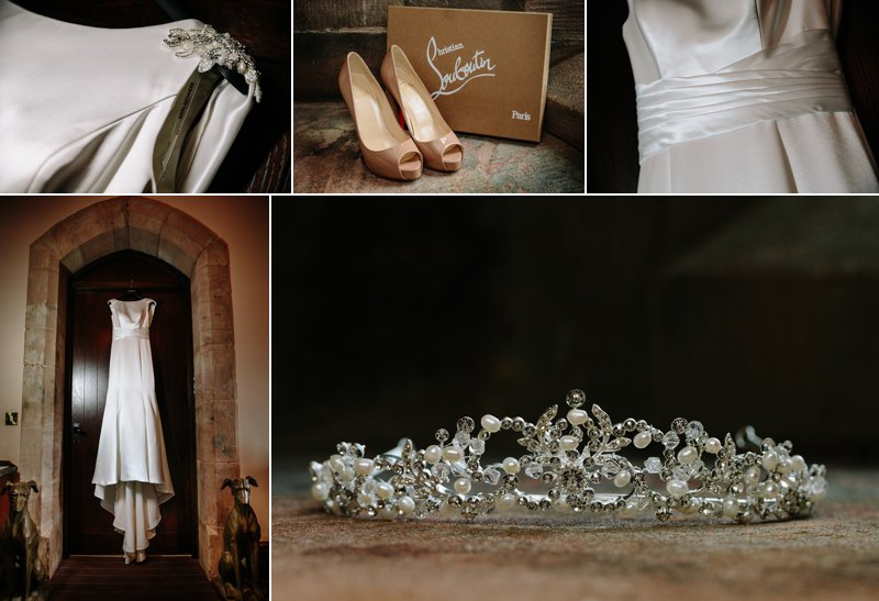 Brides wedding dress and tiara