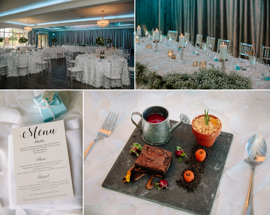 The wedding breakfast suite at Merrydale Manor in Cheshire