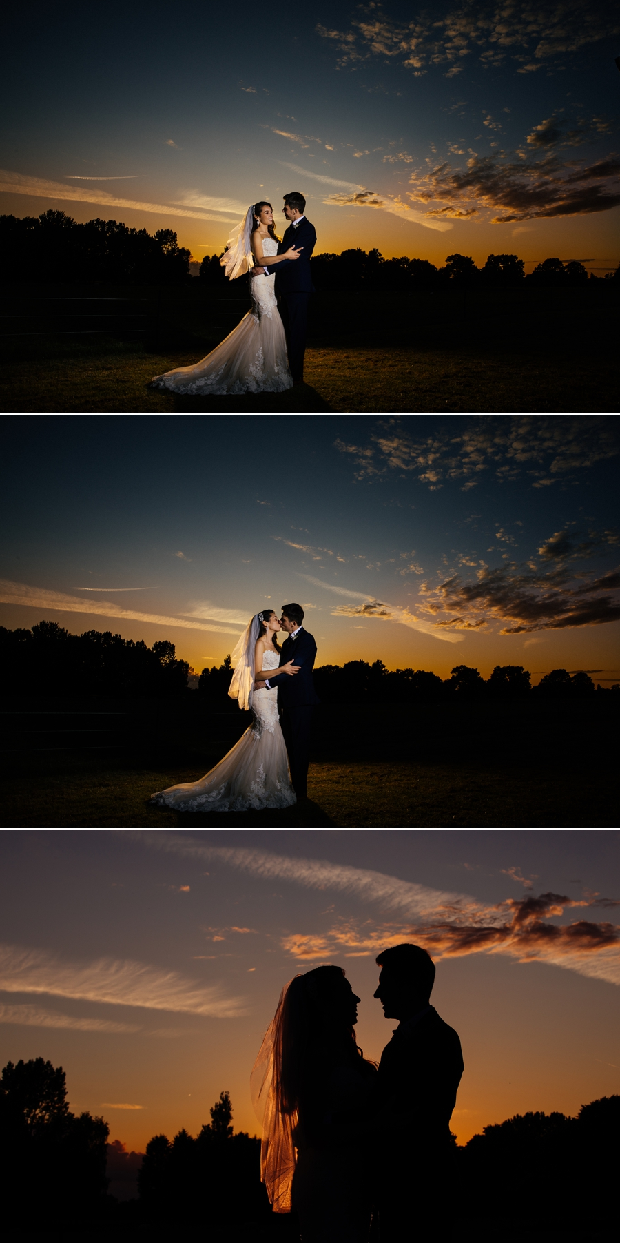Merrydale Manor sunset wedding