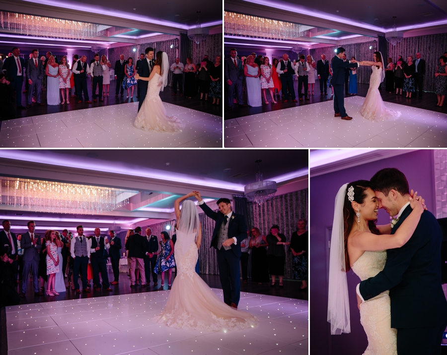 first Dance with the bride and groom at Merrydale Manor