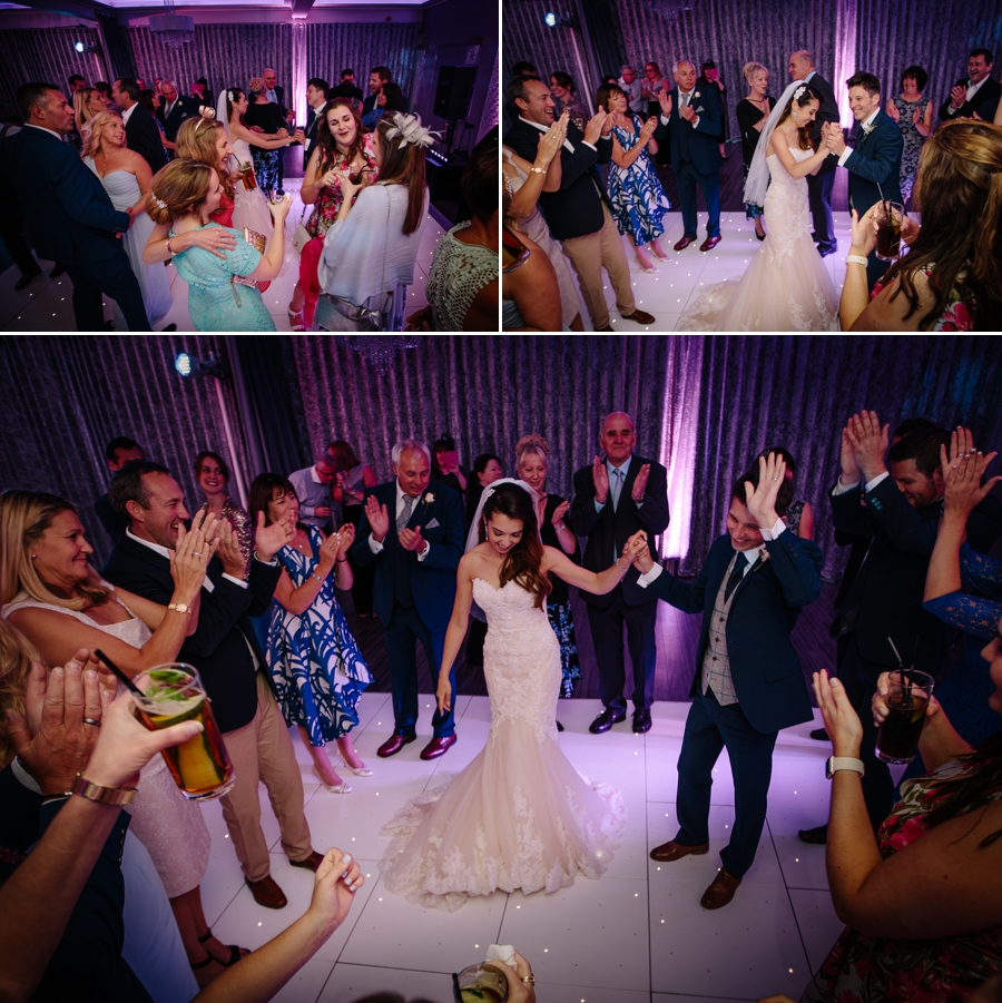 Dancing fun with the bride and groom