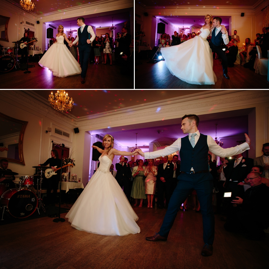 first Dance fun with the bride and groom