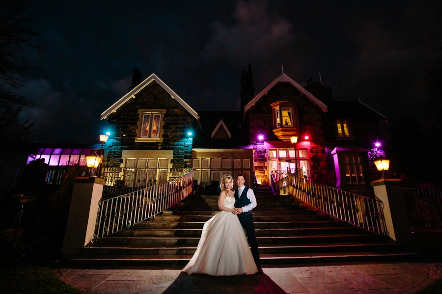 West tower wedding photography night image