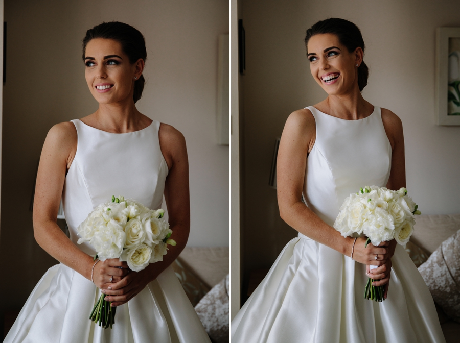 Stunning bridal portraits before leaving home