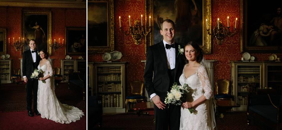 Bride & Groom inside Tabley House