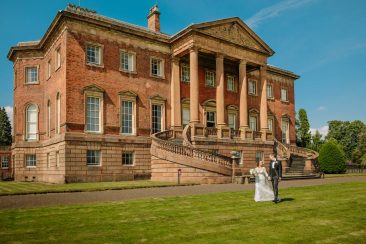 Tabley House Wedding grand stairs