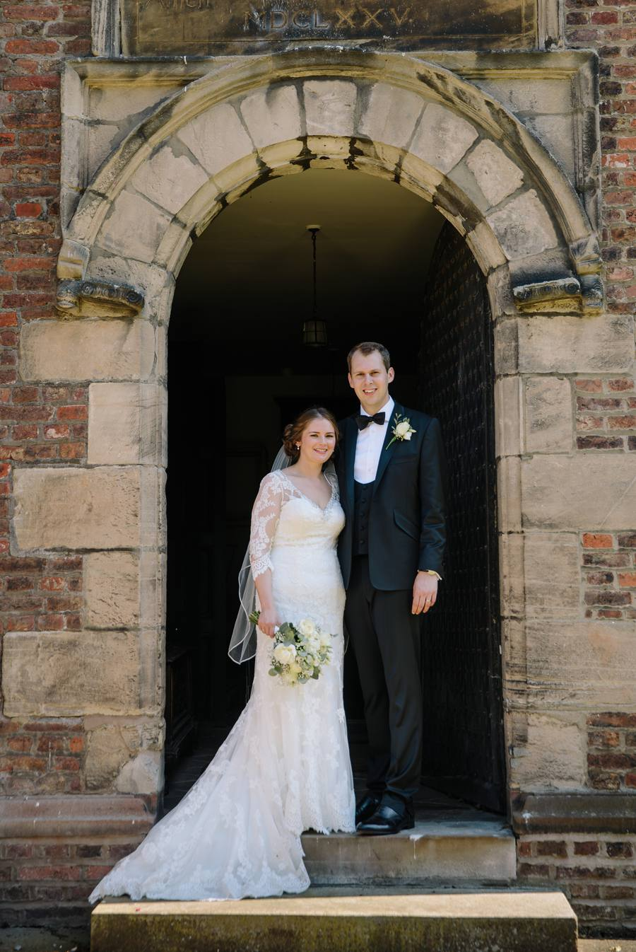 Bride & Groom outside the Chapel