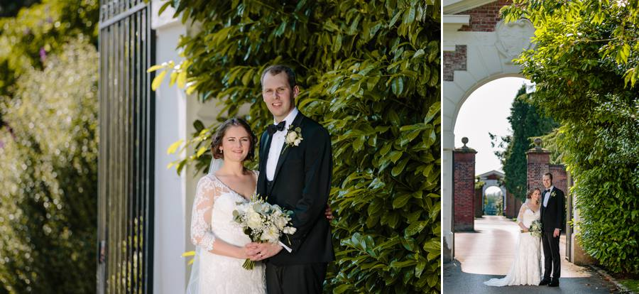 Bride & Groom in the gardens