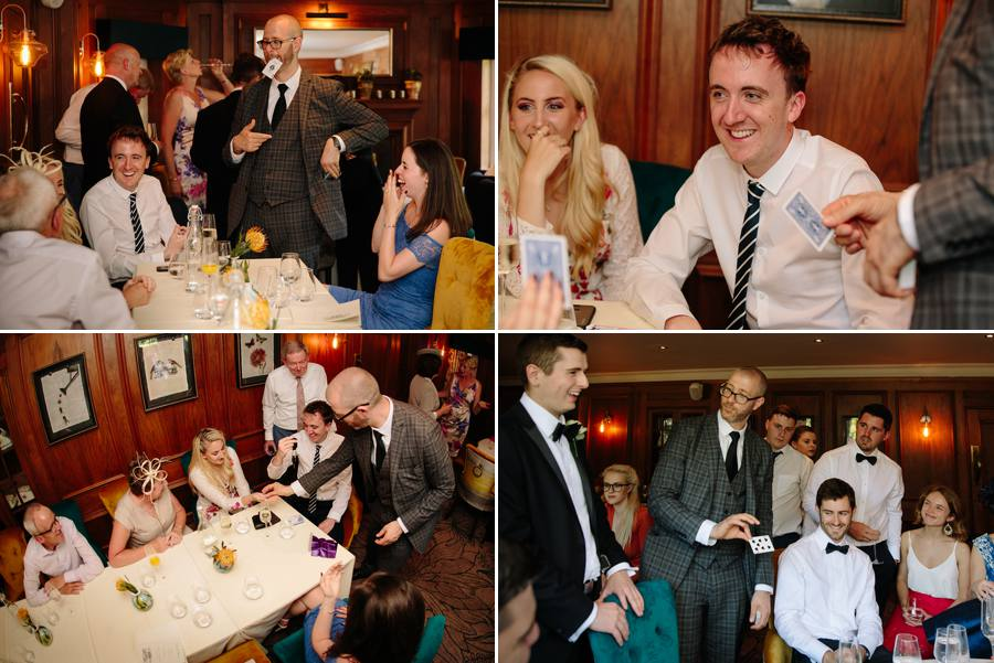 Stanneylands Wedding drinks reception with a magician