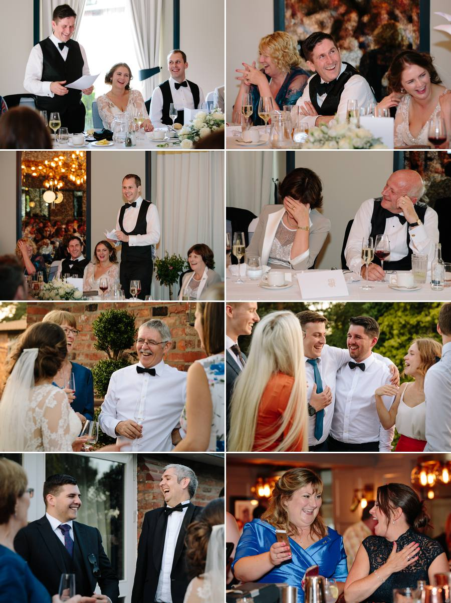 Wedding Speeches with guests having fun