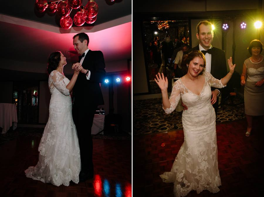 First Dance for the bride and groom at Stanneylands
