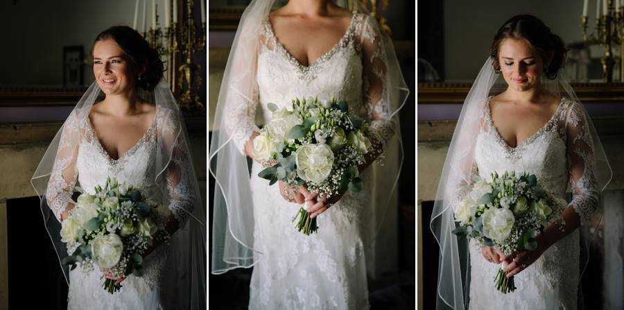 Tabley House Bridal Portraits before the ceremony