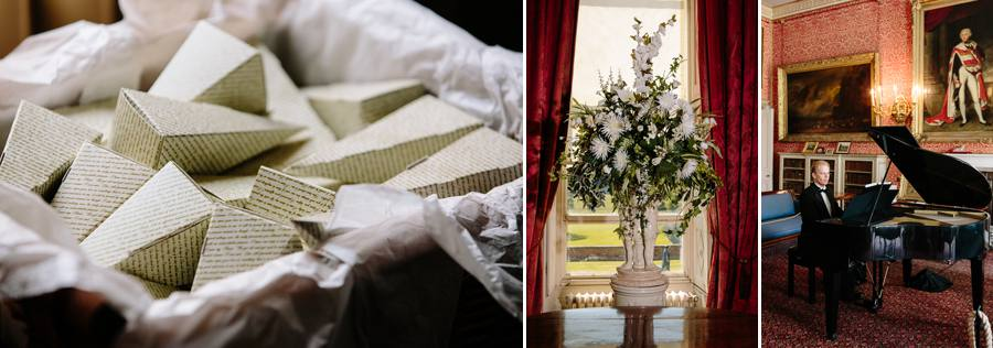 Confetti, flowers and the pianist at Tabley House