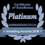 Bridebook certificate of excellence award 2018