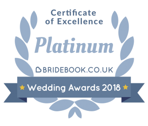 Bridebook certificate of excellence award 2018