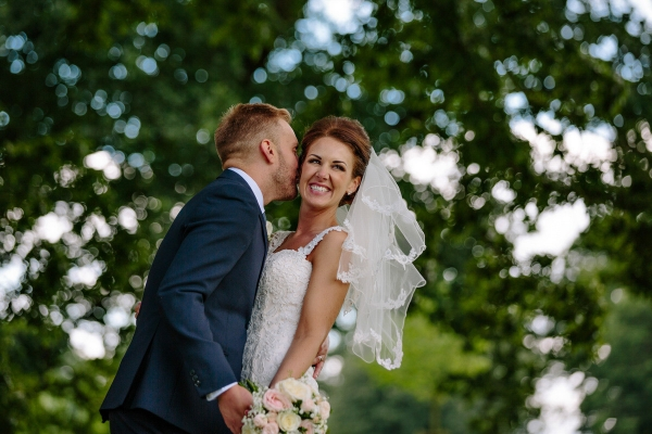 Bride and Groom enjoying their wedding day at Colshaw Hall in cheshire