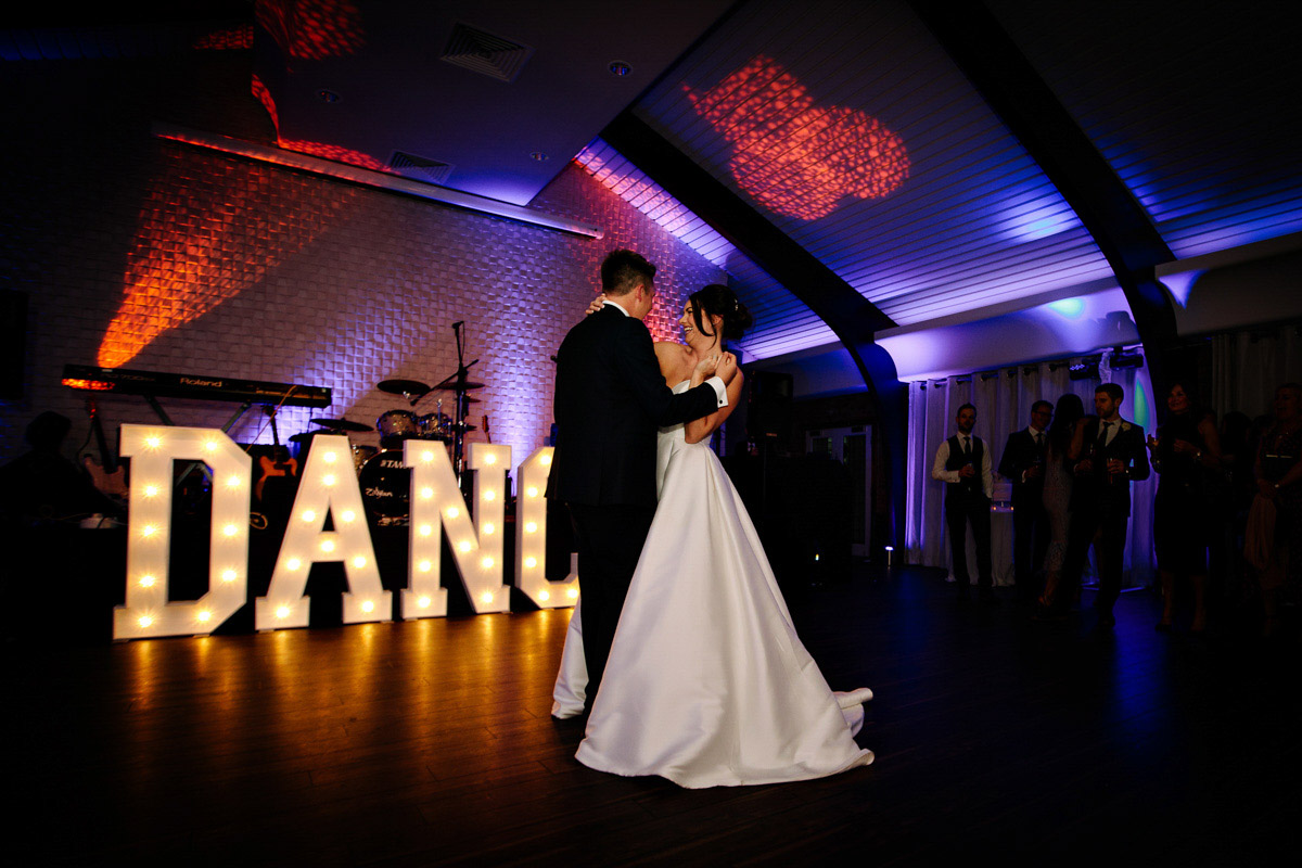 Bride and Groom during their first dance as a married couple