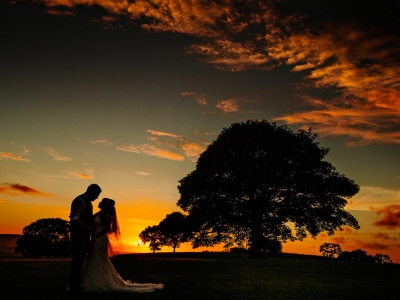 Stunning sunset Photograph at Heaton House Farm in Cheshire