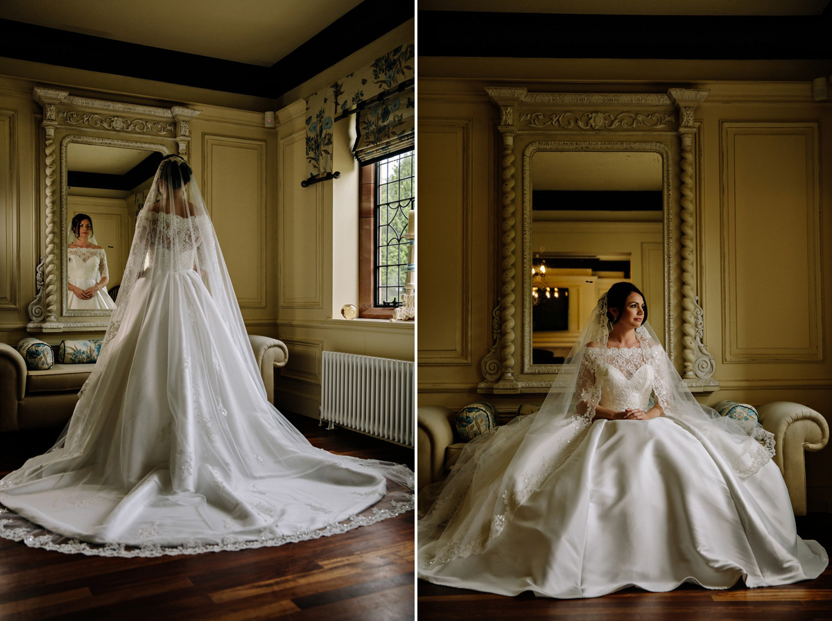 Stunning bridal portraits and exquisite wedding gown