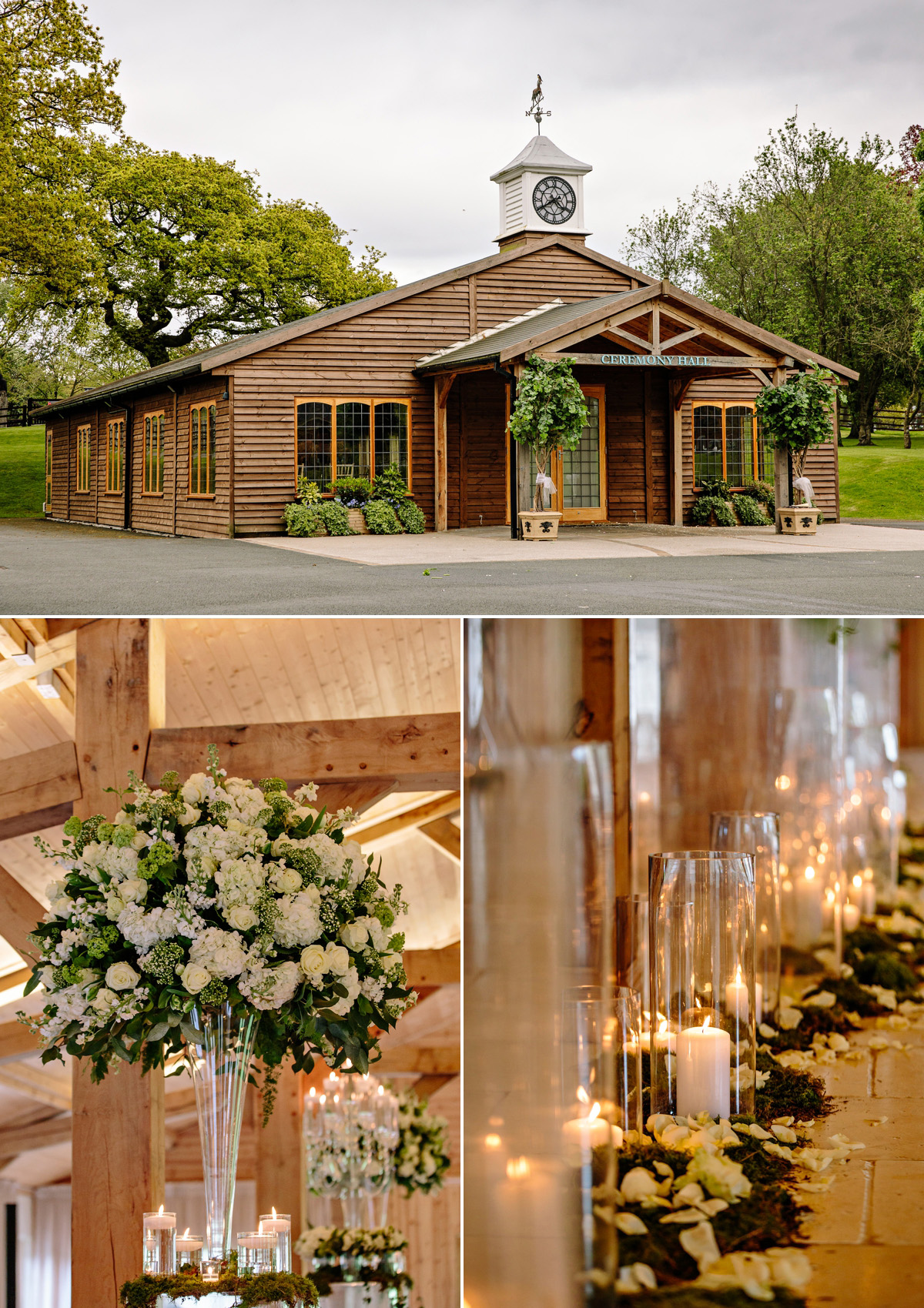 The wedding ceremony room and beautiful floral decoration