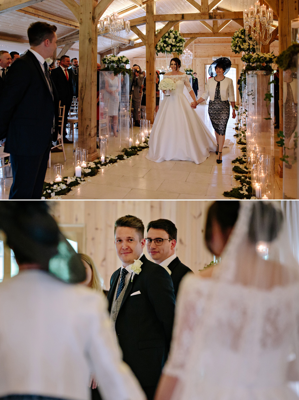 That first look between a bride and groom