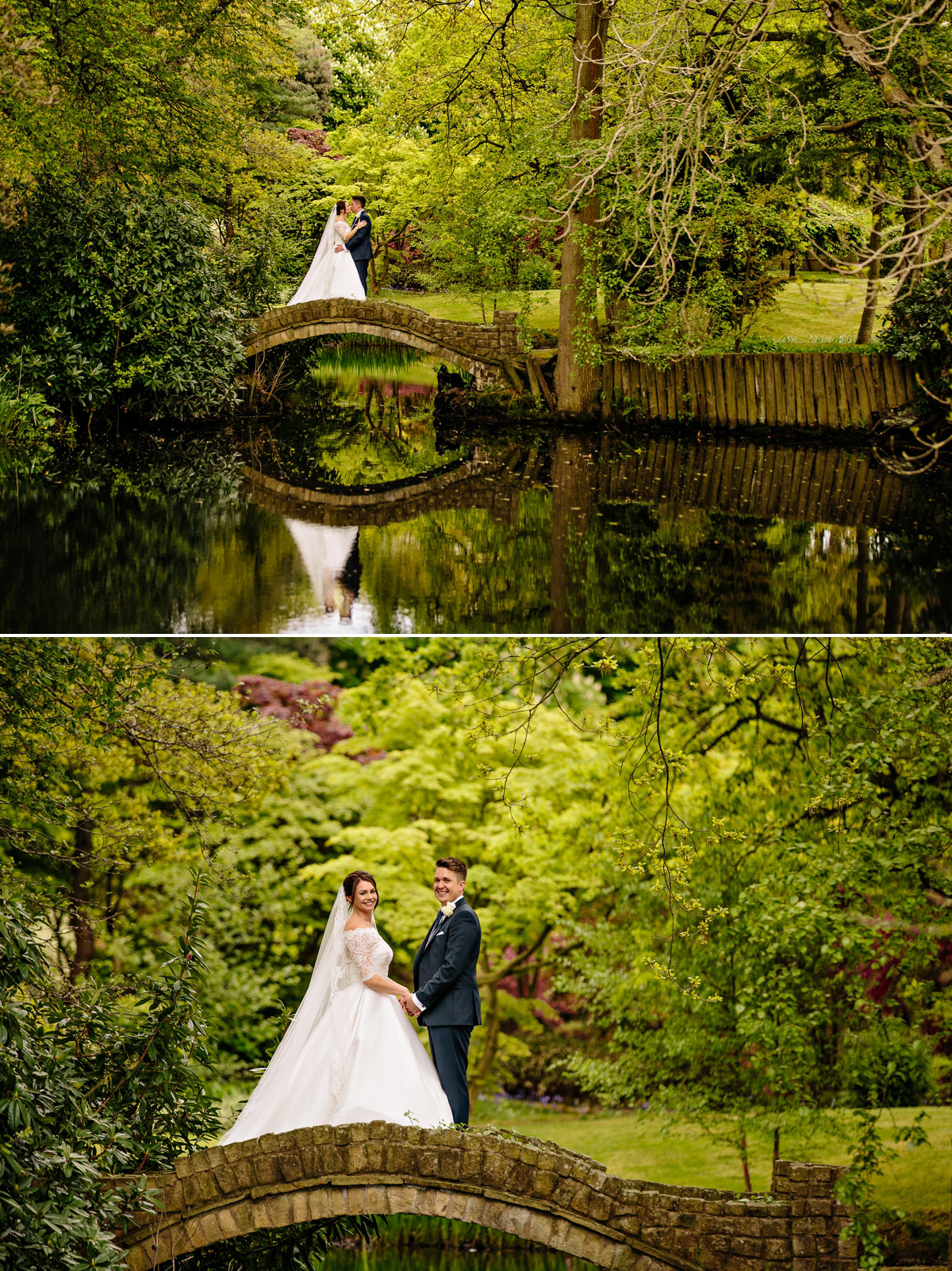 Gorgeous Bride and Groom photos over the lake