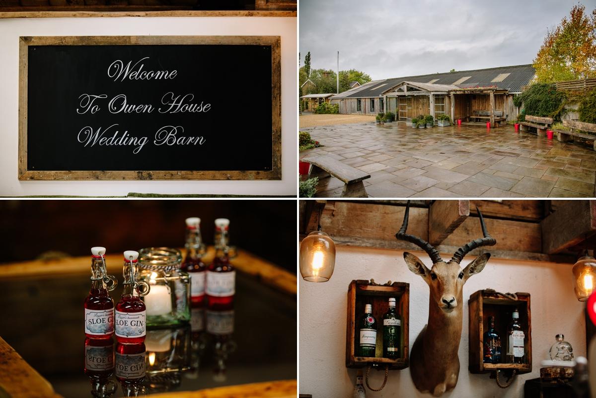 Details around the wedding venue