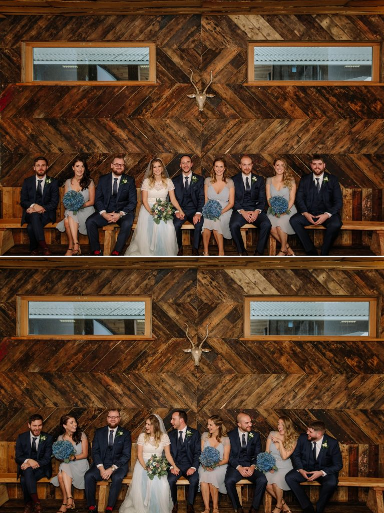 Cool Bridal Party photograph at Owen House Wedding Barn