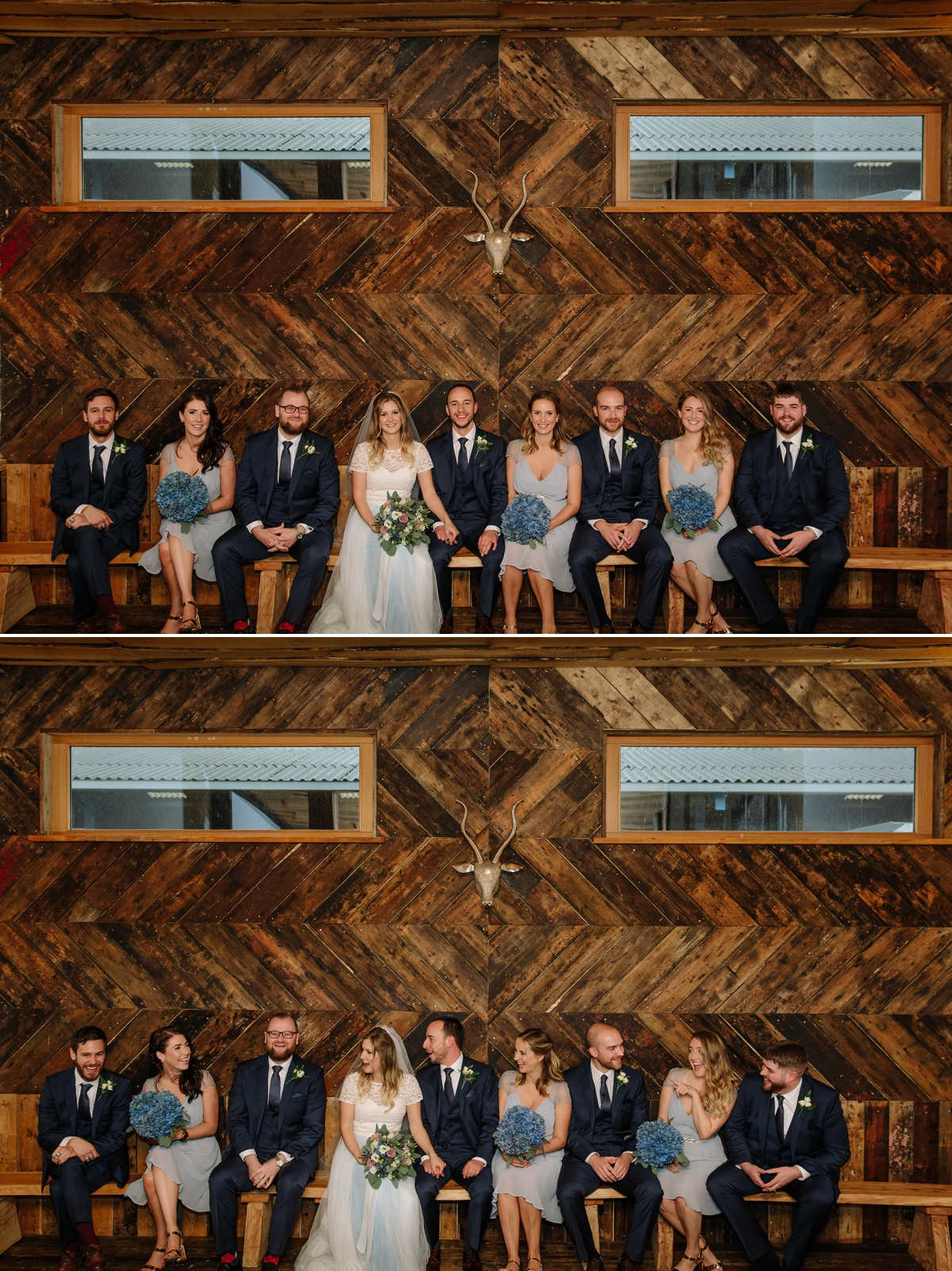 Cool Bridal Party photograph at Owen House Wedding Barn