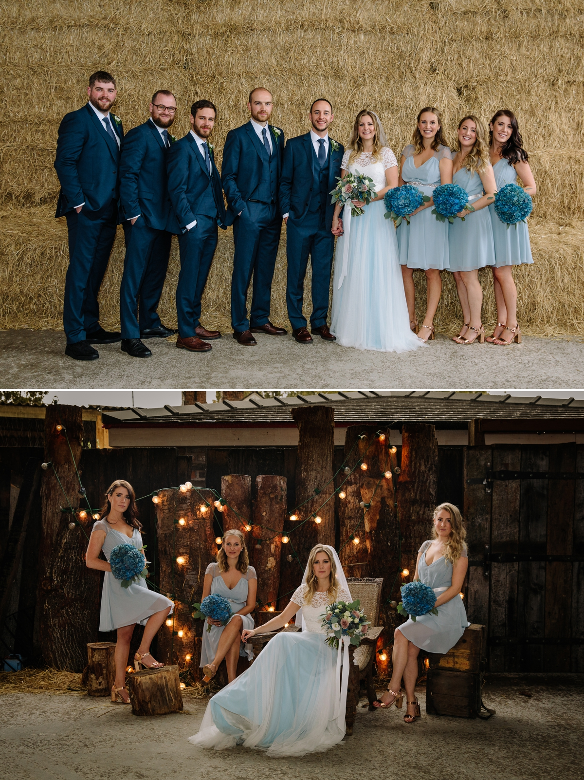 Bridal Party and Bride with her bridesmaids